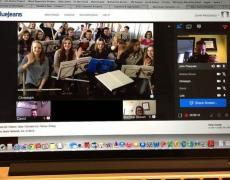 Orchesterprobe via Internet