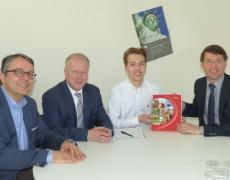 Eberhard Pfister, Peter Weiß, Paul Gaiser und Bruno Metz
